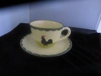 Cappuccino kop en schotel Kip Haan