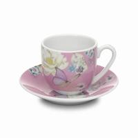 Espresso kop en schotel roze Accessorize