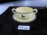 Soep kop en schotel  stapelbaar Kip Haan