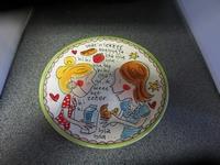 Bord plat Blond Even bijkletsen 22 cm