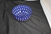 Rice Bowl Bunzlau Castle  Blauw met witte sterren 0359A