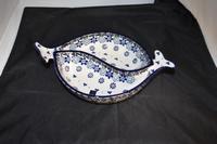 Bowl Fish shaped Belle Fleur Bunzlau Castle