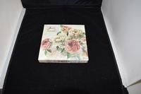 Rose Pink/ White servetten