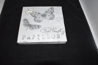 Papillon Grey Vlinders servetten