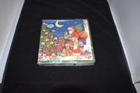 Santa Claus blue servetten