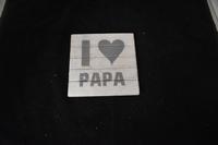 I Love papa Onderzetter