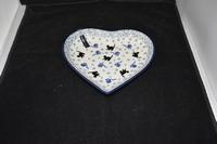 Dish Heart Cat black Bunzlau Castle